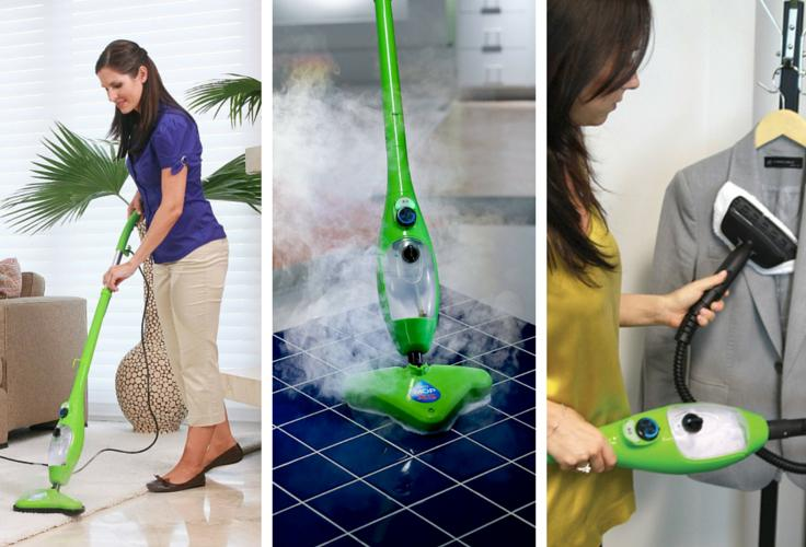H2O X5 Steam Mop Usage Options